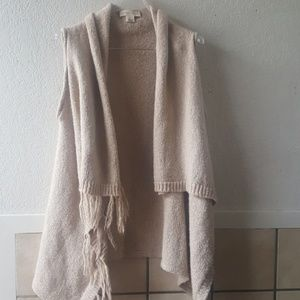 Lovestitch beige wool blend loose hang cardigan